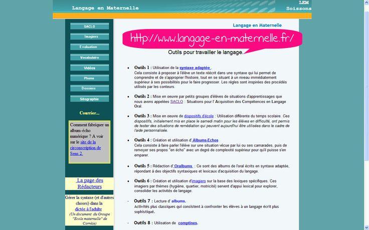 °°° Le site LEM (Langage en maternelle) : nbreux outils pour développer l'apprentissage du lexique et de la syntaxe en maternelle. Une mine ! SACLO, Oralbums, dictée à l'adulte, imagiers, phono, dossiers, évaluation, vocabulaire, vidéos