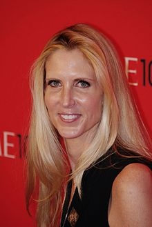 Ann Coulter...a true life wicked witch. Just an awful, hateful  person