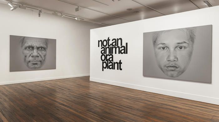 Vernon Ah Kee's latest exhibition 'Not an Animal or a Plant.'