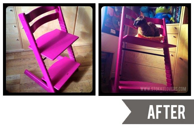 Painting a Tripp Trapp before and after
