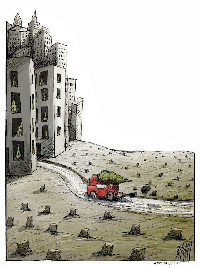 Sad and Surreal Contemporary Cartoons by Angel Boligan