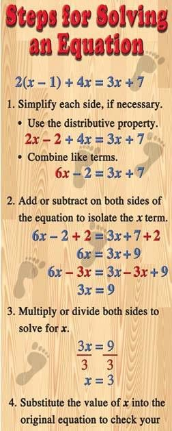 #Algebra Solving Equations poster #math