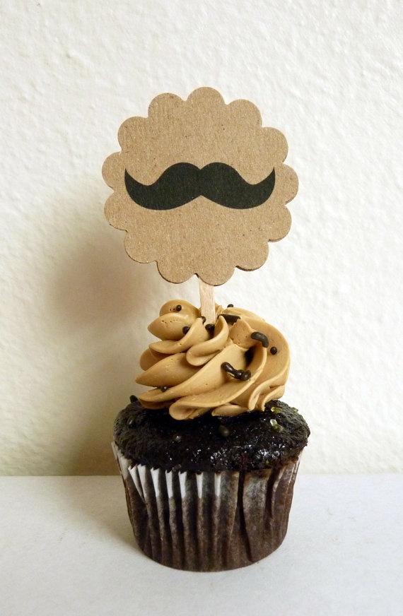 simple cupcake topper. simple chocolate cupcake.
