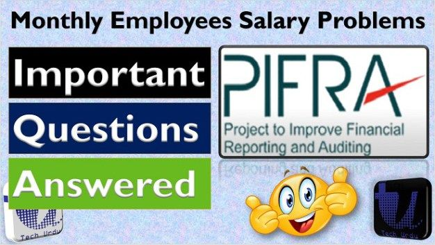 pifra monthly salary slip 2018 important questions answers tech rh pinterest com