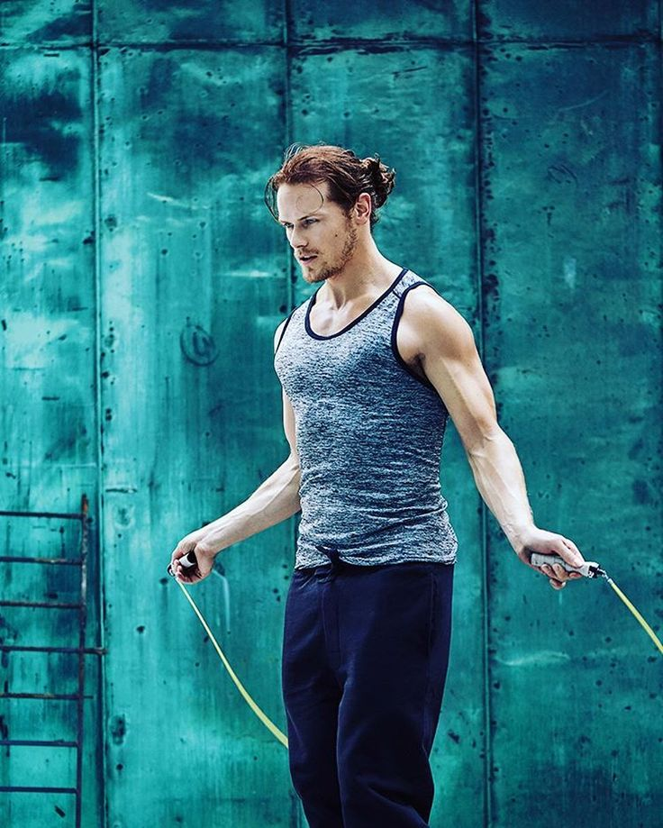 Great new picture of Sam Heughan for My Peak Challenge Source