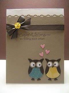 Engaged Owls by jeny_79 - Cards and Paper Crafts at Splitcoaststampers