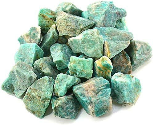 Shubhanjali Natural Rough Amazonite Raw Stone For Reiki Crystal