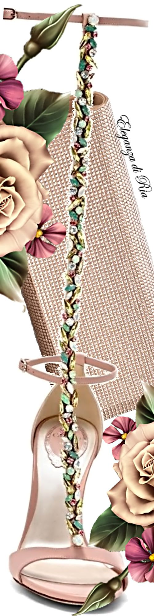 Rene Caovilla Maxi Strass Collection High Strap Sandal With Matching Clutch – << Shoe Addict Pin Pals >>