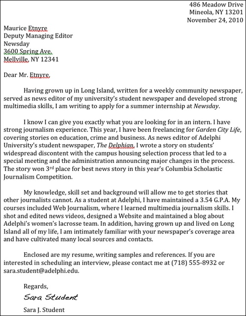 28+ [ Cover Letter For Radio Internship ] | Cover Letter Career ...