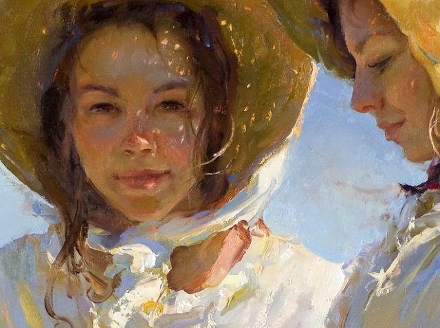 봄 꽃피는 날..... Daniel F. Gerhartz(1965) -American painter