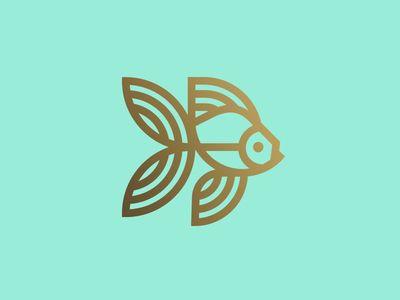Goldfish illustration // branding / logo // line work