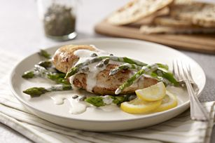 Creamy Chicken Piccata & Asparagus