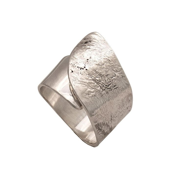 Sterling silver wide wrap ring Greek ring