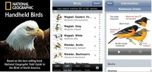 Must have birding apps for iPhone, including iBird Explorer Pro, Peterson, Sibley, Audubon, National Geographic and BirdsEye bird watching apps.