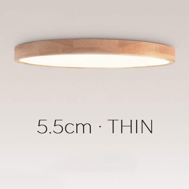 Online Shop Nordic Einfache Moderne Eiche Holz Decke Lampe Ultra