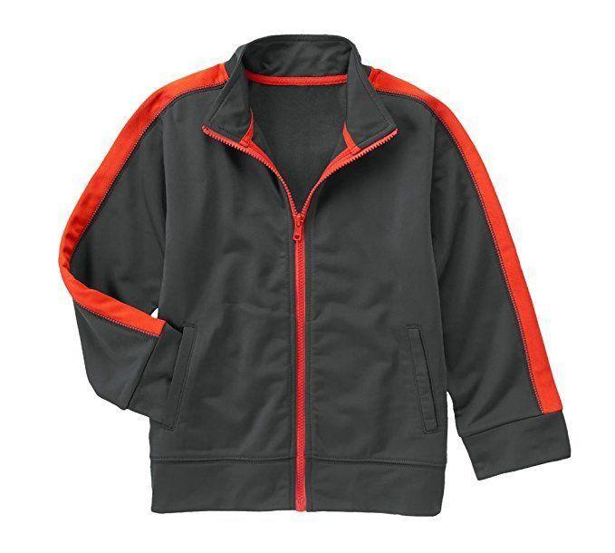 GYMBOREE Boys Full Zip Gymsport Active Jacket Athletic Gray Size S 5/6 M 7/8 NWT