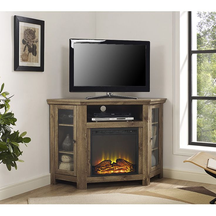 home corner furniture. barnwood 48inch corner fireplace tv stand 48 home furniture