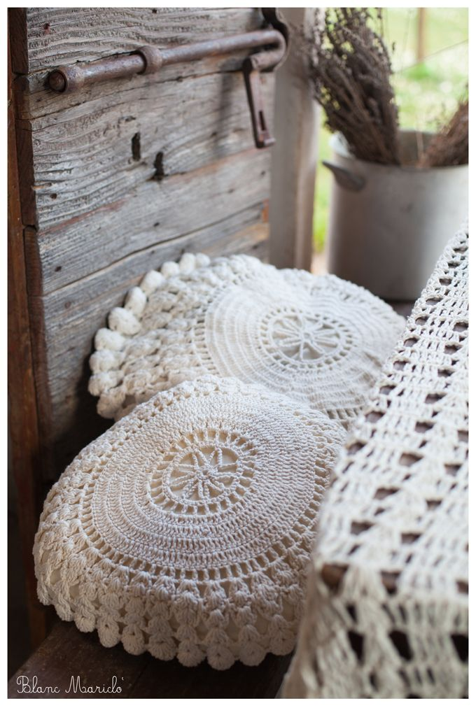 blanc mariclo tricot cushion and cover