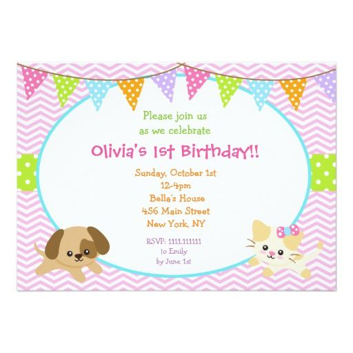 410 best images about Dog and Cat Birthday Party Invitations on – Cat Party Invitations