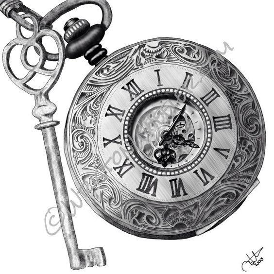 Afbeeldingsresultaat voor diseños de relojes para tatuar
