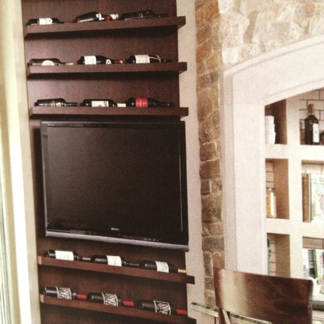 Wine and tv display