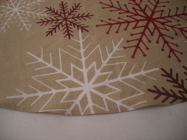 Christmas Tree Skirt 58 inches by CloserToNature on Etsy, $75.00