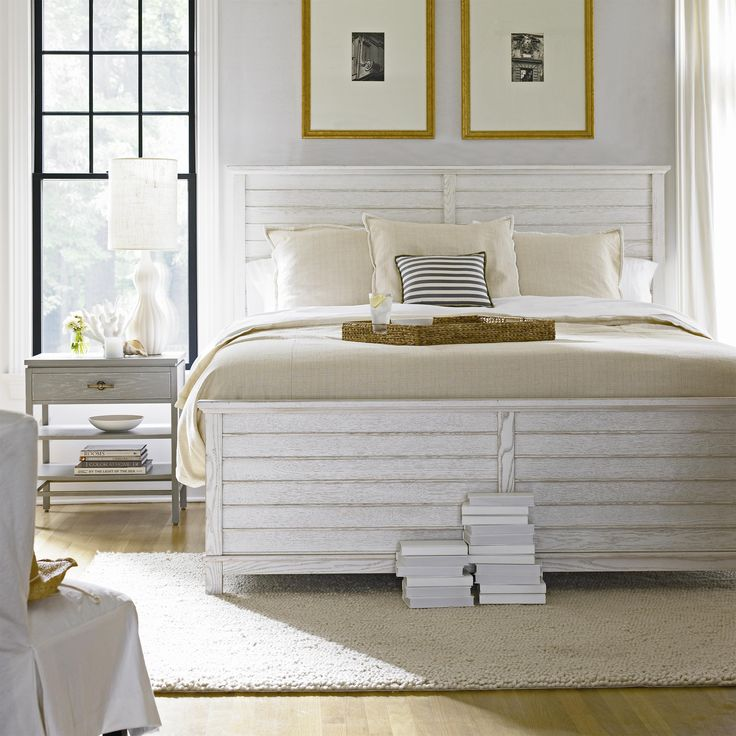 Stanley Furniture Coastal Living Resort Cape Comber Panel Bed 2 Piece Bedroom  Set In Sail Cloth / Morning Fog (I Need This In My Life)