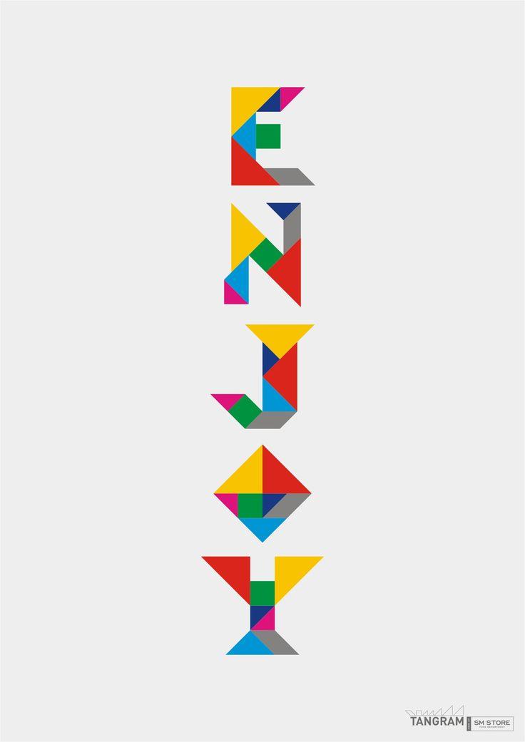 lettres tangram