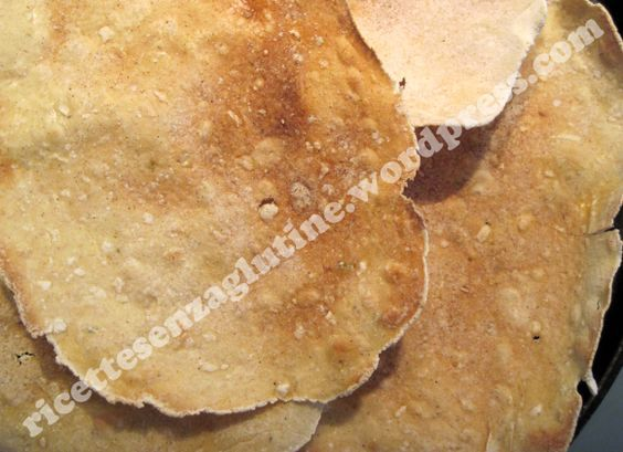 Sfoglie senza glutine tipo pane carasau