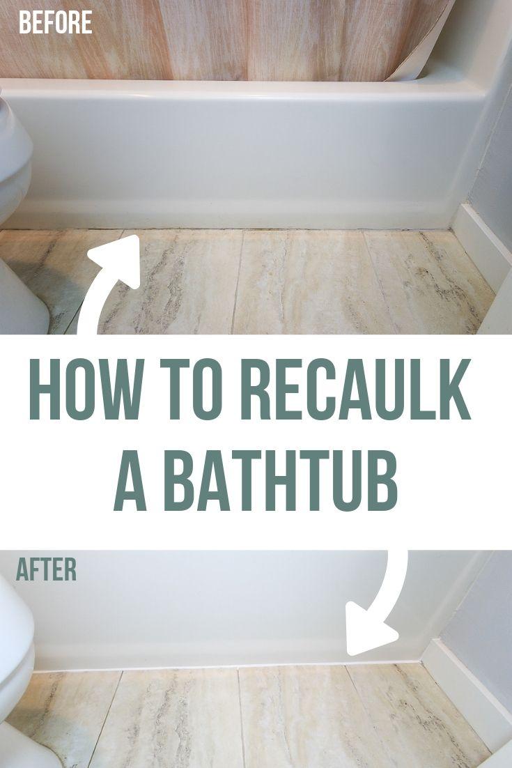How To Recaulk A Bathtub Diy Home Repair Home Improvement