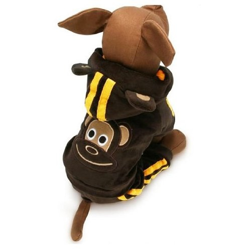 Cute Brown Monkey Suit For Dogs Pet Clothing Size 2 Cute Brown Monkey Suit For Dogs Pet Cloth Cute Brown Monkey Suit for