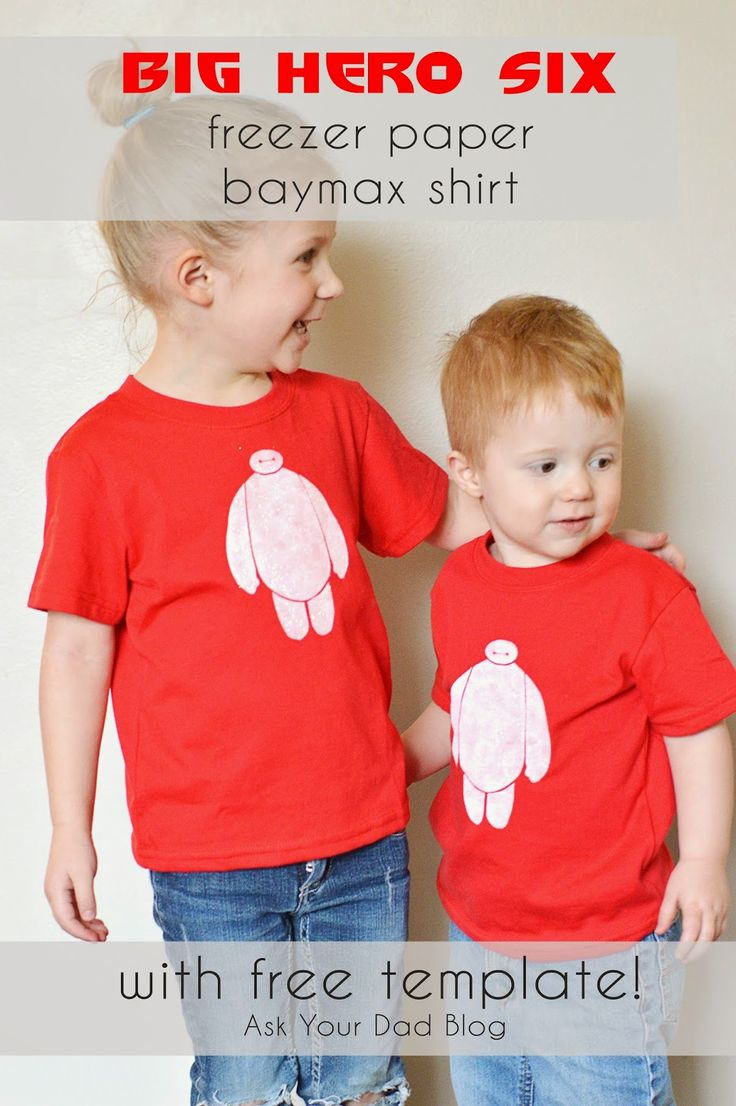 Freezer Paper Shirt tutorial - with pictures! Seriously easy to follow. Big Hero 6 and Baymax!