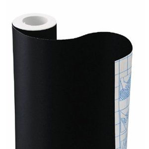 Chalkboard Contact Paper - lots cheaper and easier to use than chalkboard paint!