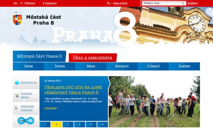 #Webdesign for Praha 8 website