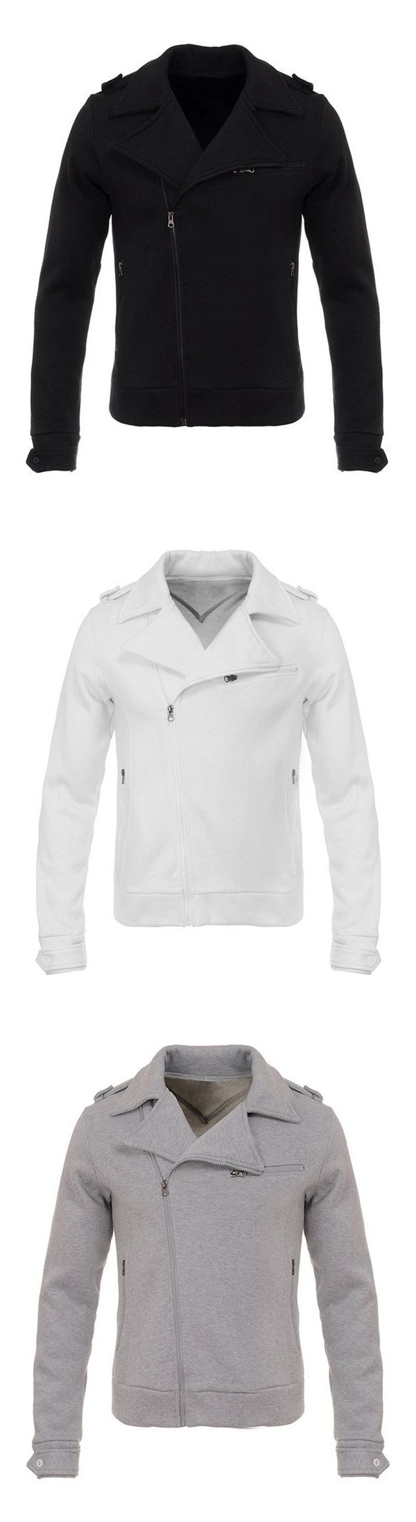 Only $35.99!This is a very fashionable men's slim jacket, features zipper decorative,shoulder strap and several zipper pocket.  Here plus a certain warmth inside the thermal effect,It's very suitable for autumn and winter wear, you can wear it at work,leisure,parties and other occasions, Now Free Shipping & Easy Return. Search more fashion clothing at vogueclips.com