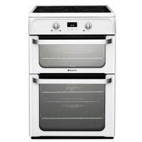 Hotpoint HUI612P Ultima 60cm Electric Cooker With Induction Hob Polar White