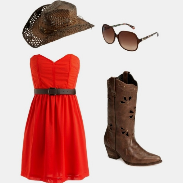 Red summer dress country song my girl
