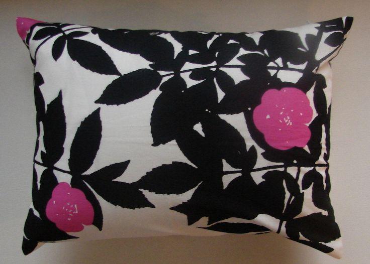 Cute Ruusupuu pillow case from Marimekko cotton, 30×40 cm, 12×16″, Finland