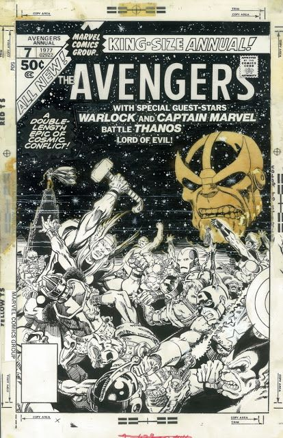 Black and White Wednesday: Getting Cosmic With Original Jim Starlin Art