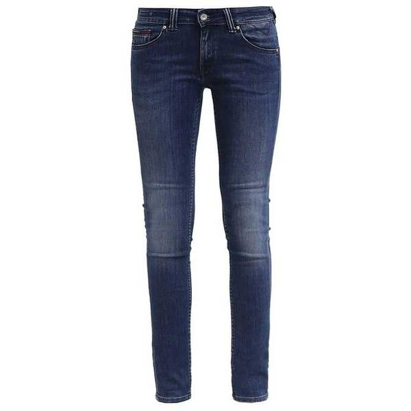 LOW RISE SKINNY SOPHIE Jeans Skinny Fit blue denim (€80) via Polyvore  featuring