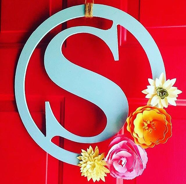 So cute for spring. Monogram wreaths are only 2.99 at Michaels