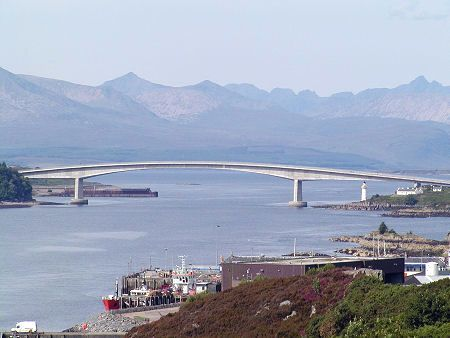 The Skye Bridge Framed by the Cuillin, With Kyle of Lochalsh in the Foreground