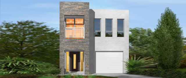 The Siena Facade Option 02 - from the Weeks Peacock Homes Urban Style Range. A small block shouldn't mean the sacrifice of living space. Suited to a block as narrow as just 8 meters, space is maximised in the clever design of the Siena.