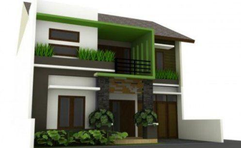 Fachada casa moderna minimalista peque 497 306 for Colores para casas pequenas