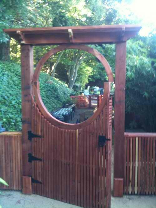 Asian Inspired Fence Gate Anese