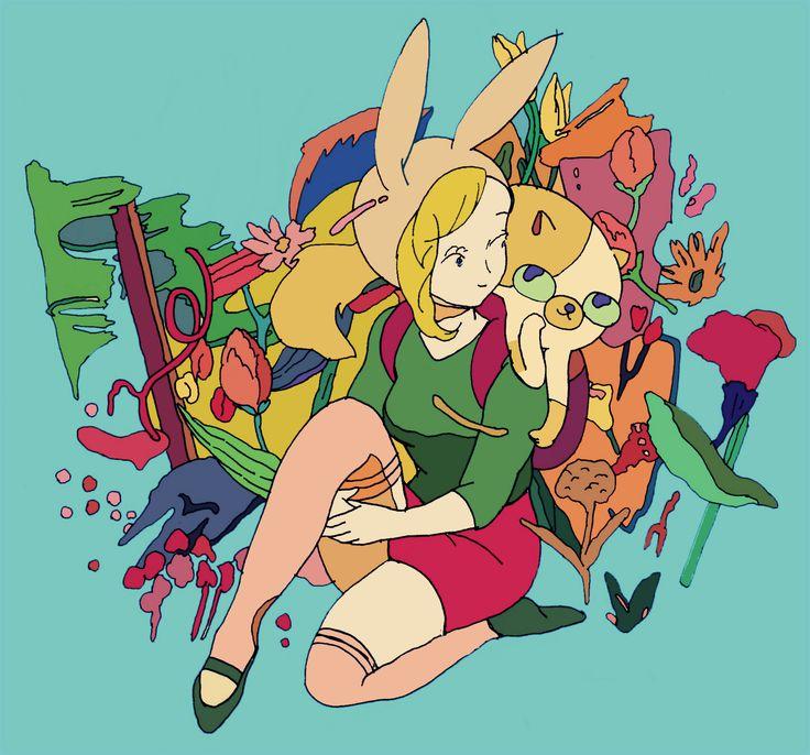 Adventure Time #Cartoon Fionna and Cake