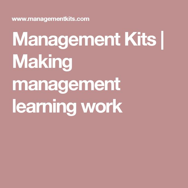 Management Kits | Making management learning work