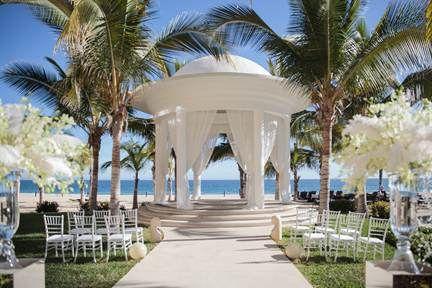 Modern Blue Wedding at Hyatt Ziva Los Cabos via Linens, Thinsg, & More