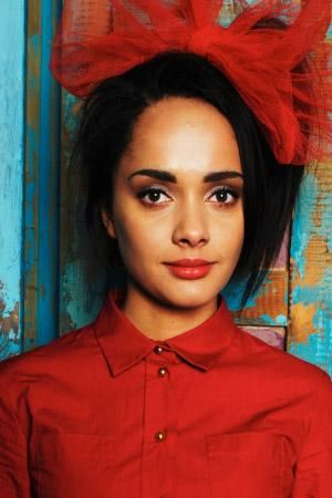 Karla Crome. #red #button #blouse #loop #misfits #karla #crome