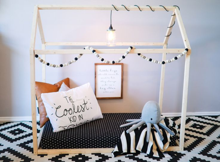 Toddler House Bed - TWIN Size, Wood Bed, Nursery, Twin Mattress, home, wooden, natural wood, modern, floor bed, crib mattress by rubyrye on Etsy https://www.etsy.com/listing/489164441/toddler-house-bed-twin-size-wood-bed